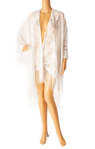 Front view of DO EVERYTHING WITH LOVE with tags Robe/coverup Size: One size
