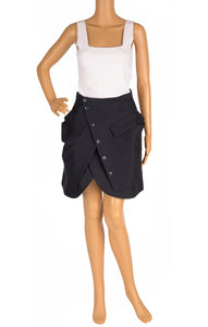 Front view of JACQUEMUS with tags Skirt Size: FR 38 (comparable to US 4-6)