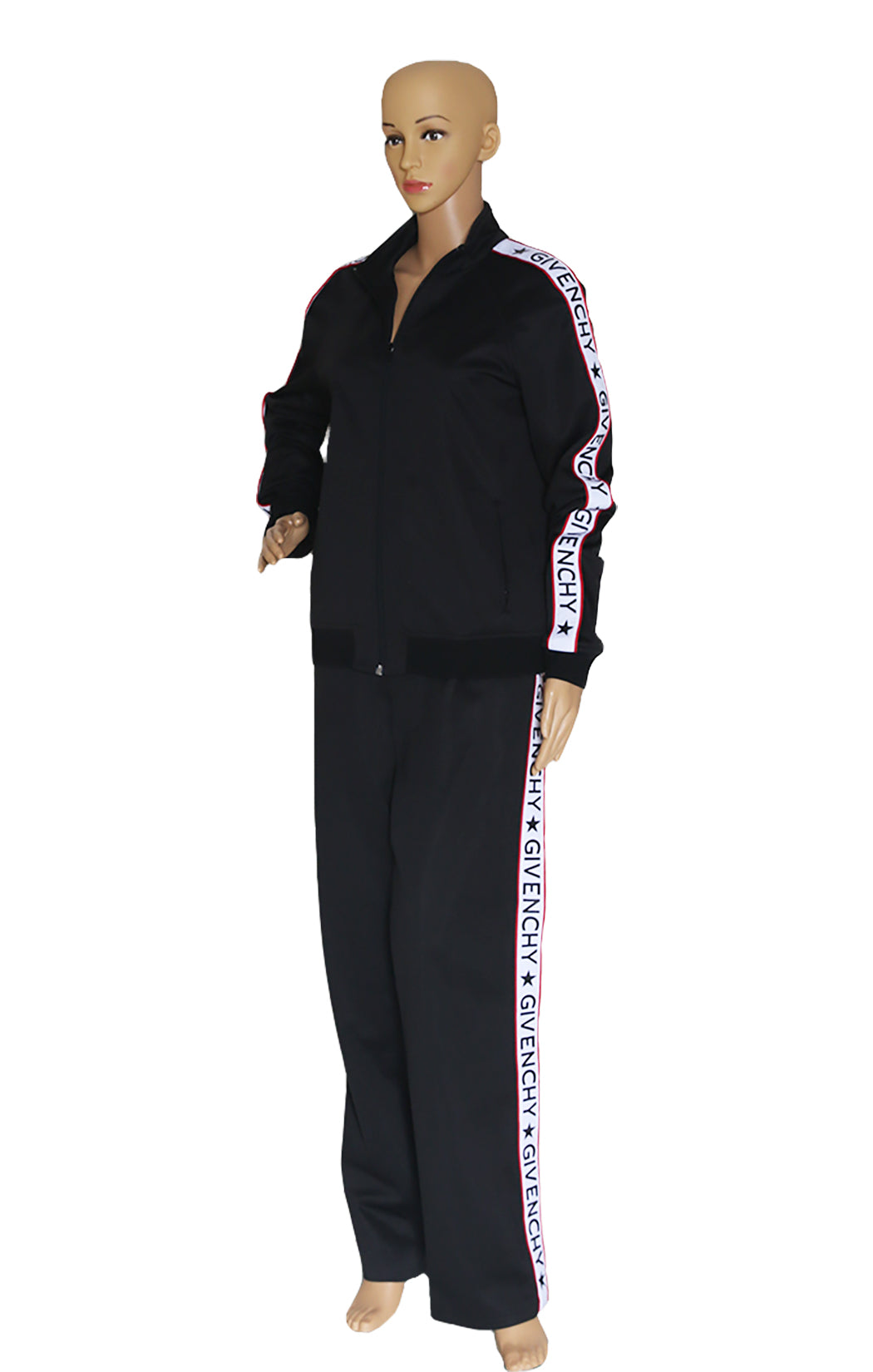 Front view of GIVENCHY  Logo Track Suit Size: FR 42 (US Medium)