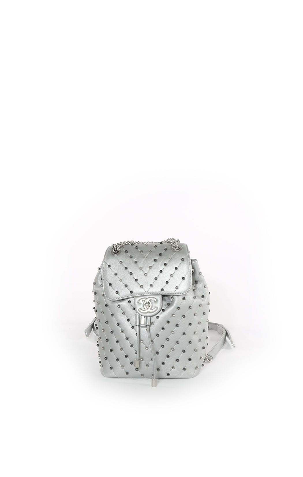 Front view of  CHANEL Backpack with Tags Size: 10 in x 12.25 in x 5 in