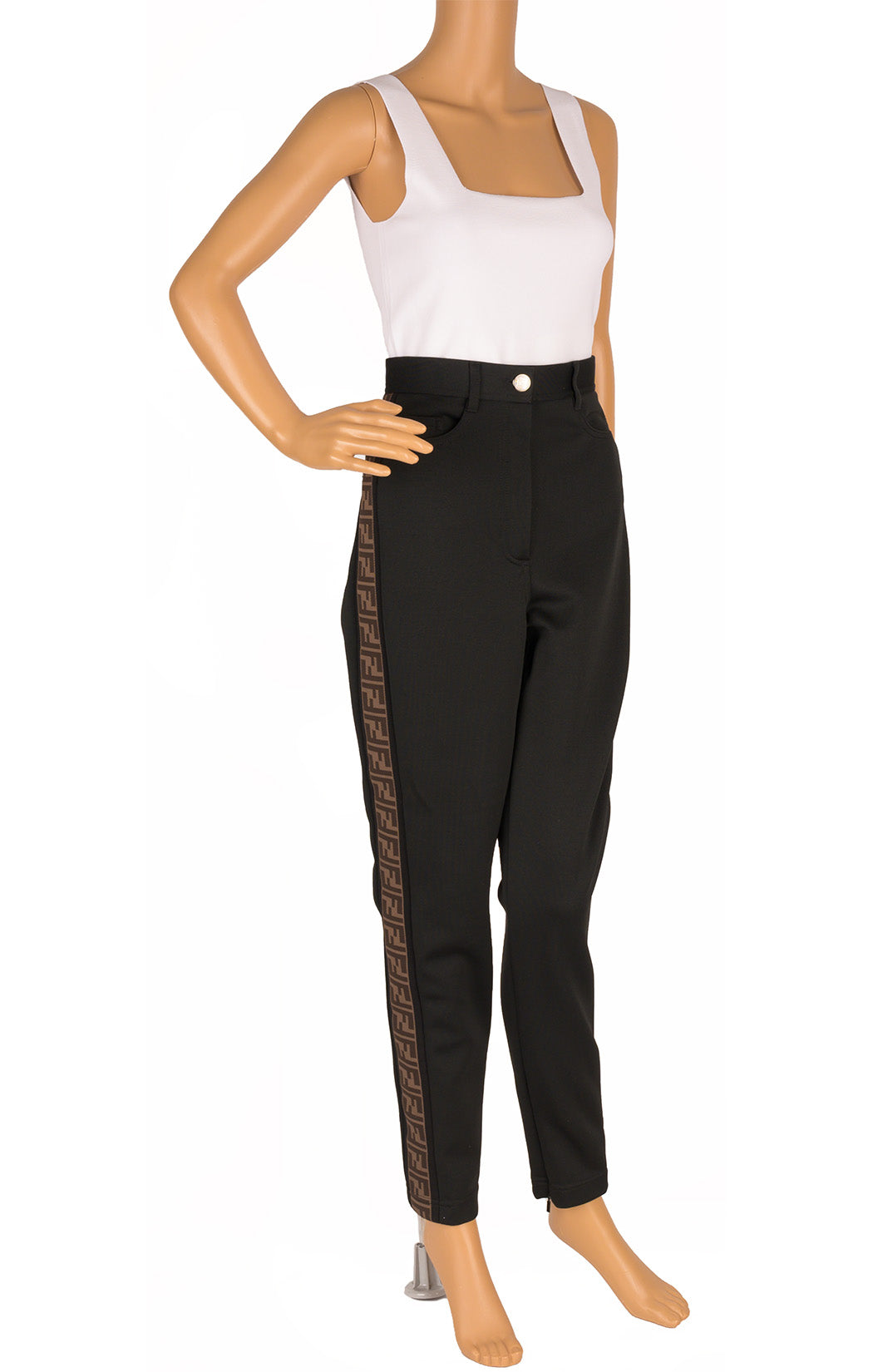 Front view of FENDI with tags Pants Size: IT 42 (comparable to US 6)