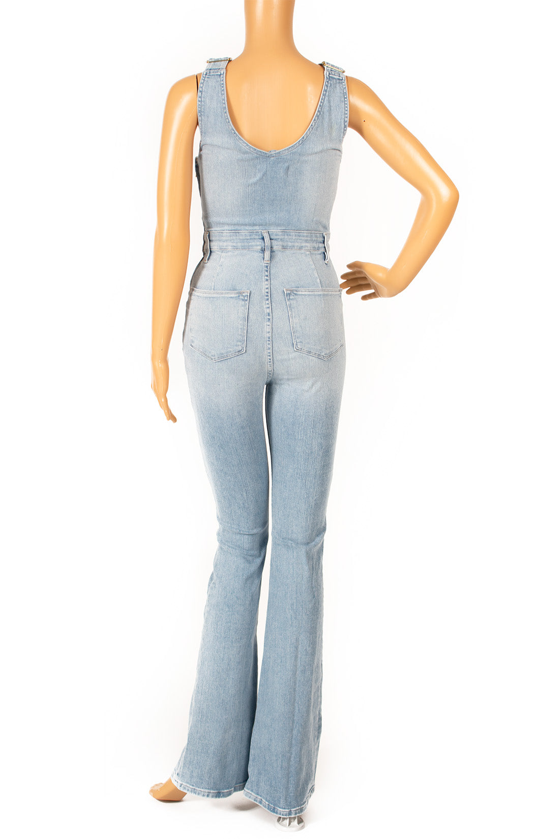 Back view of FRAME Overalls