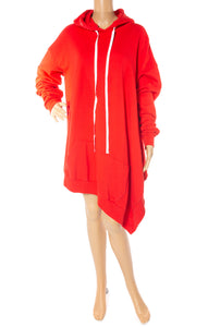 Front view of UNRAVEL w/tags Sweatshirt dress/tunic Size: Small (oversized)