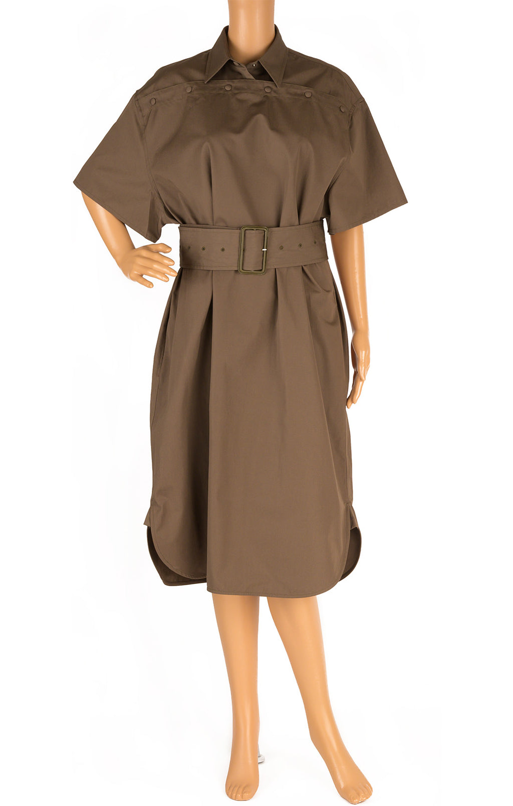 Front view of BOTTEGA VENETA  Dress Size: IT 40 (comparable to US 4-please note this is a full volume dress)