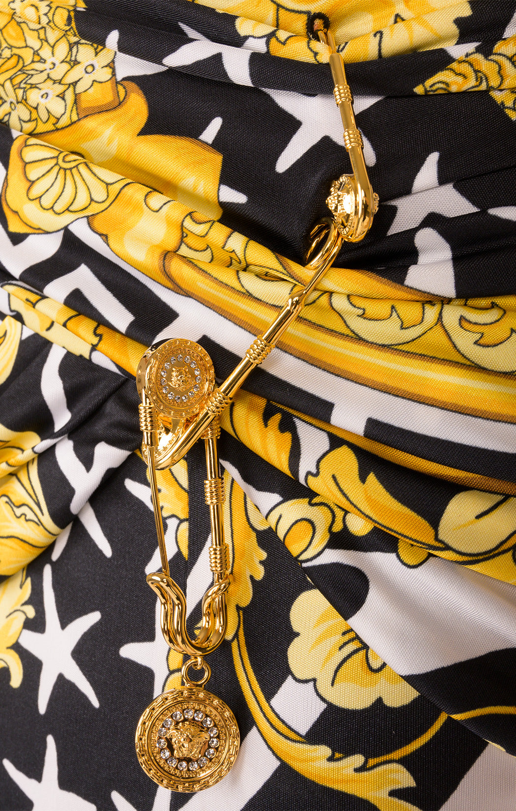 Closeup view of VERSACE with tags Skirt