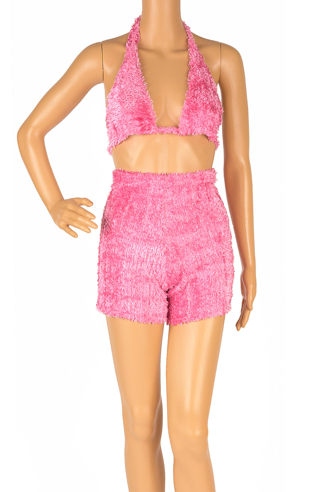 Front view of TEANNA WILEY Short and bra top Size: No size tags fits like Small