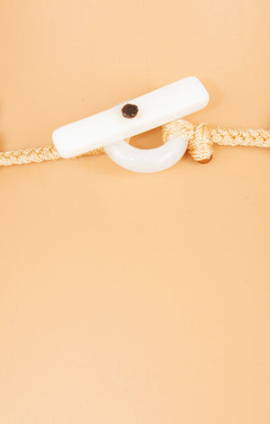 Closeup of clasp of NO NAME Necklace