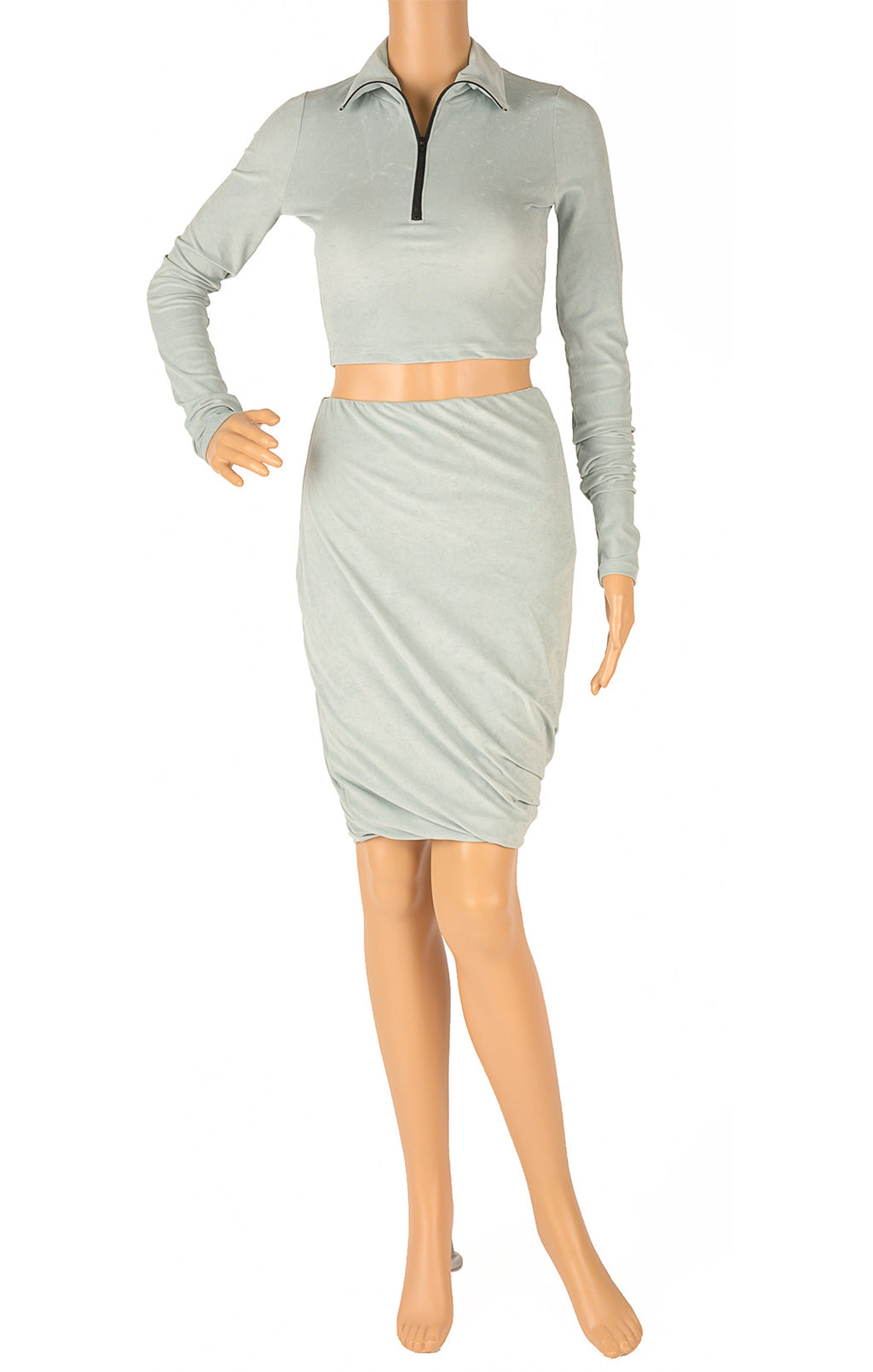 Front view of JOHN ELLIOTT  Matching skirt and top Size: Small
