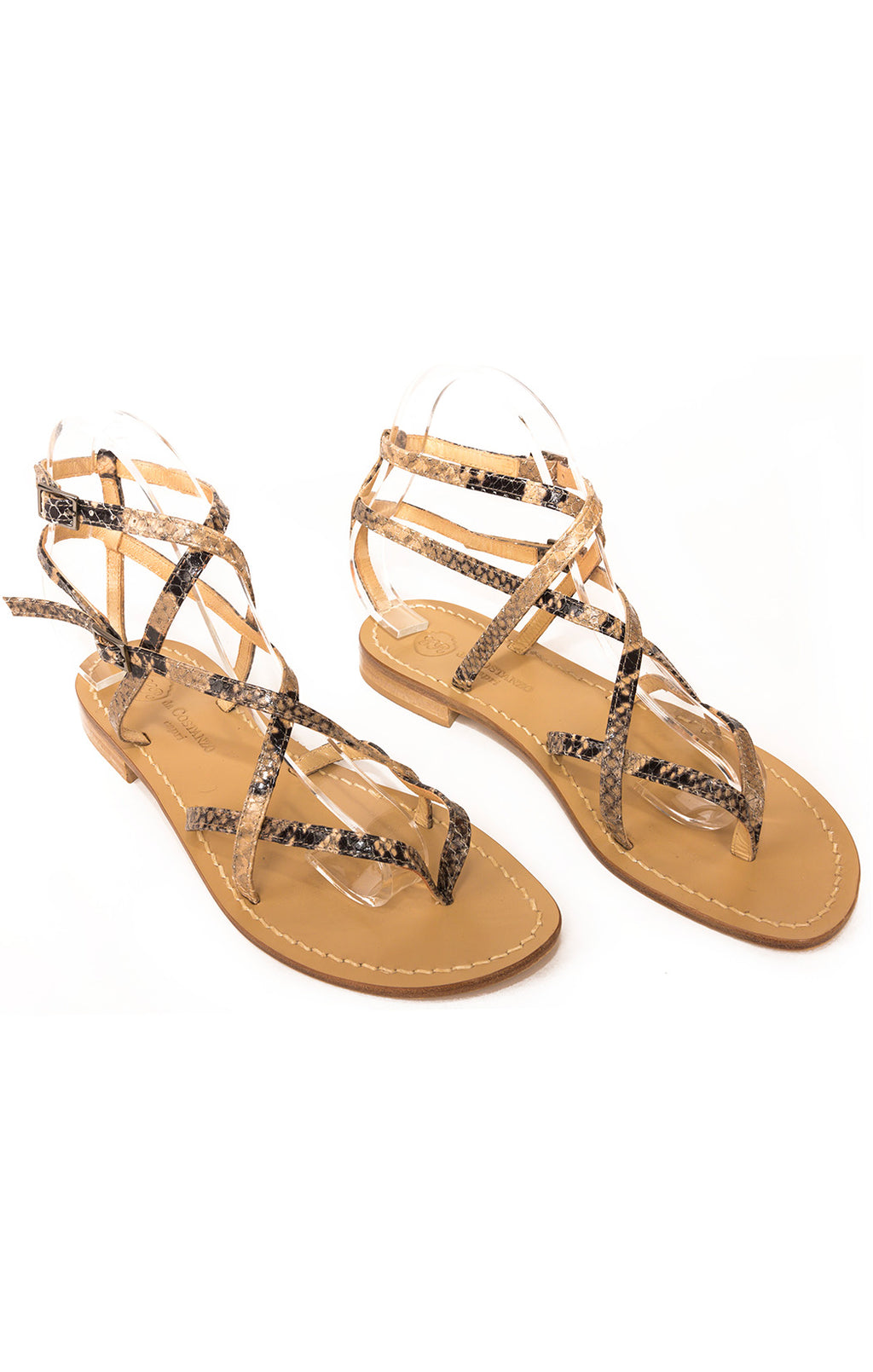 Front view of DA COSTANZO Capri Sandals Size: 39/9