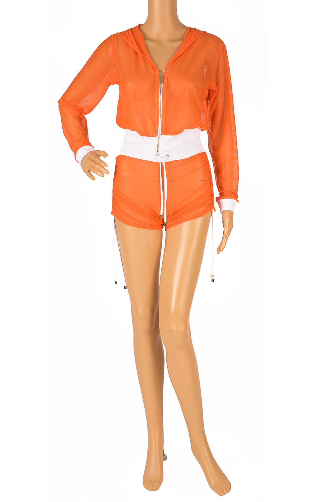 Front view of HEART OF SUN with tags  Matching jacket and shorts Size: Medium for adult