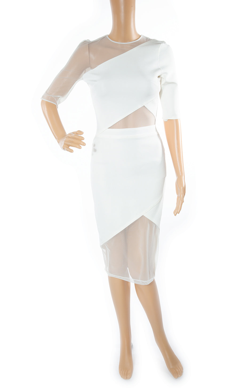 Front view of DAVID KOMA Dress Size: No tags, fits like US 4-6