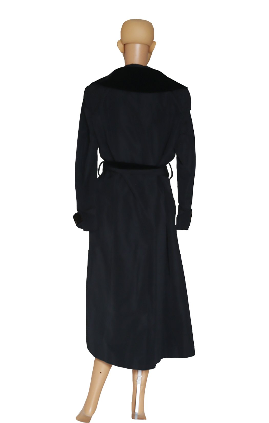 Back view of FENDI Black Trench Coat