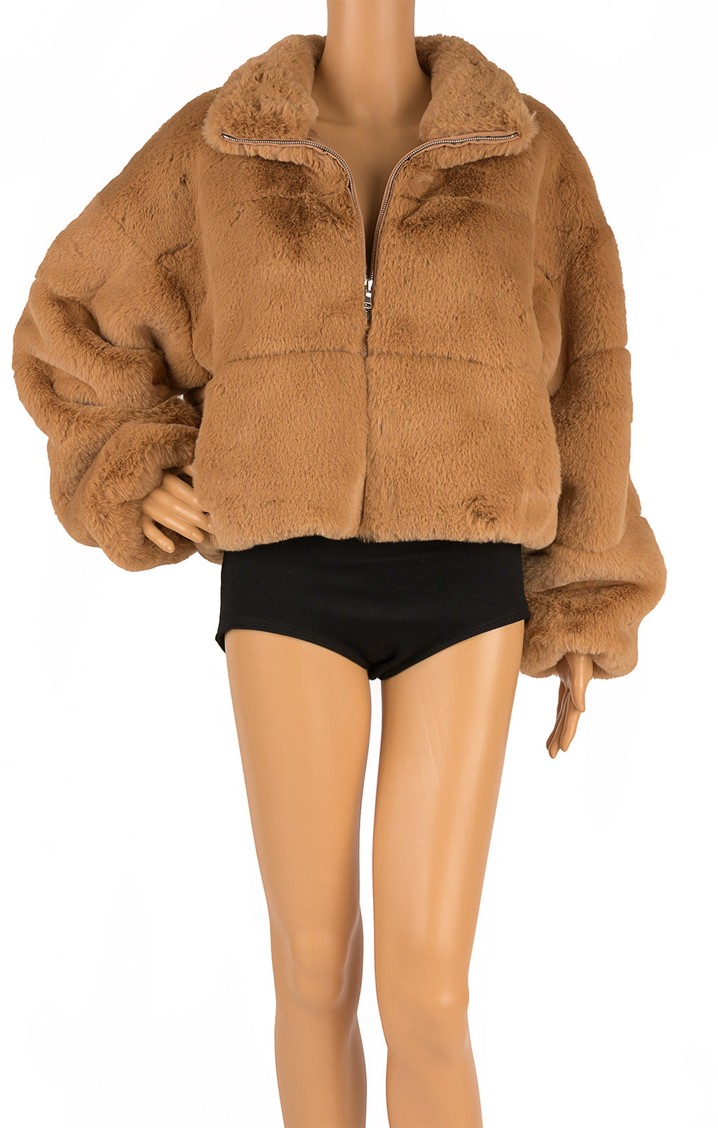 Front view of TIGER MIST Faux Fur jacket Size: Medium