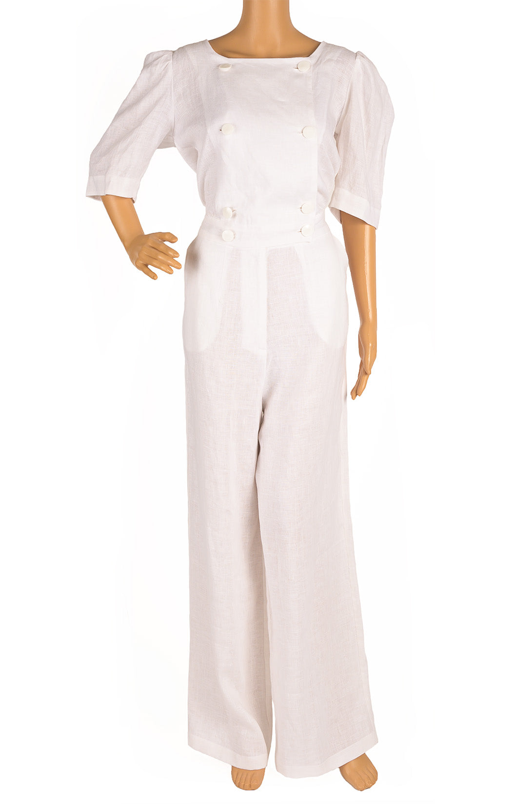 Front view of LISA MARIE FERNANDEZ  Jumpsuit  Size: No size tags fits like Medium