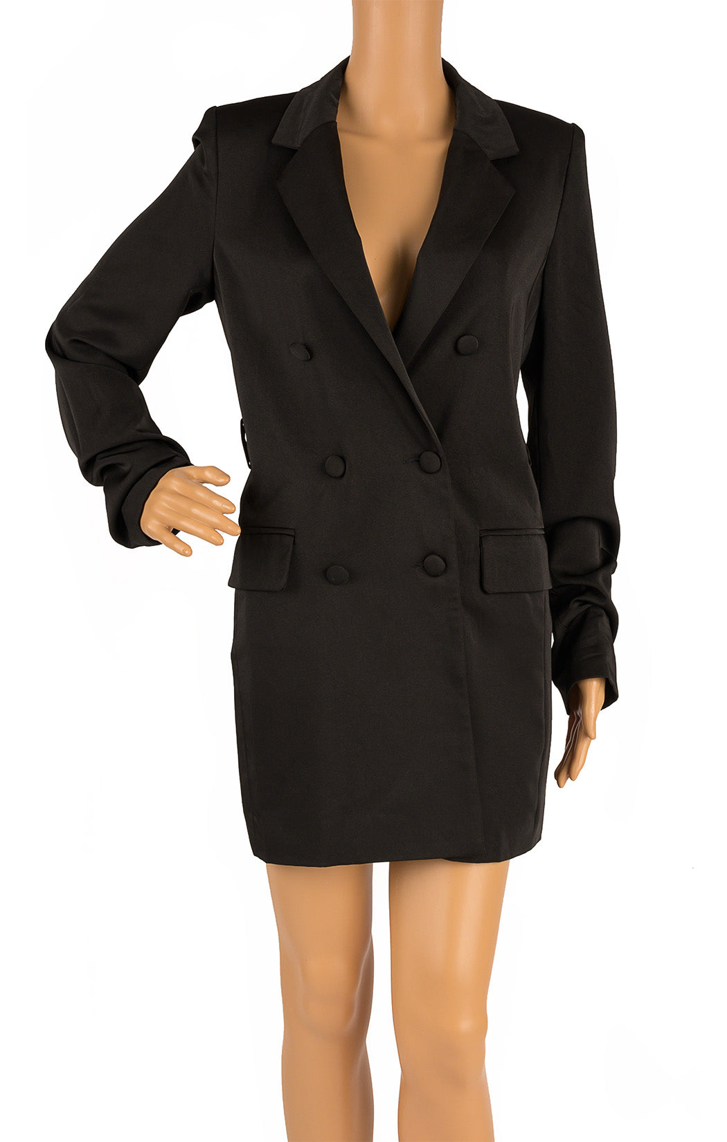 Front view of NAKED WARDROBE  Blazer dress Size: Small