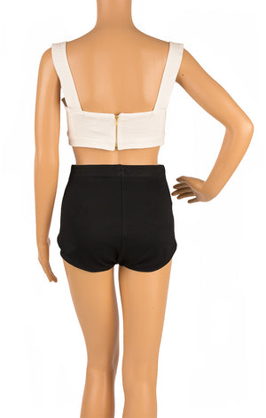 Back view of LE KASHA Crop top