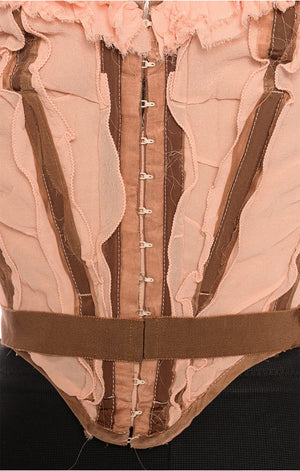 Closeup of back hook closure on JEAN PAUL GAULTIER Corset