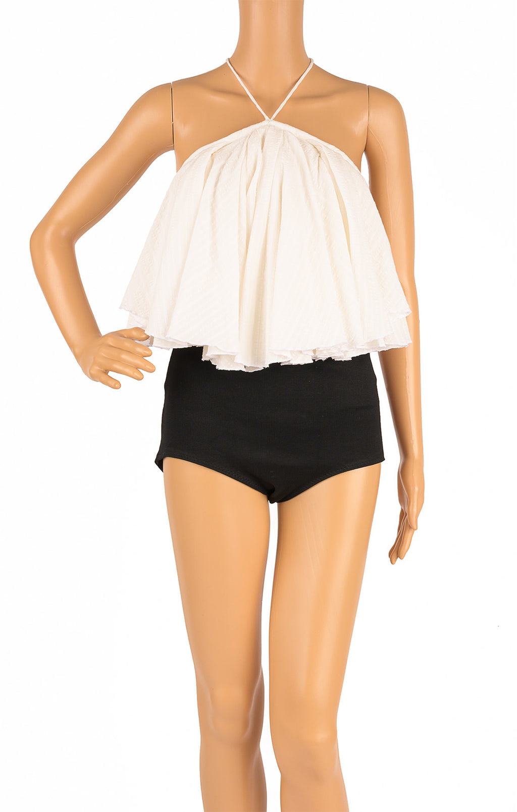 Front view of JACQUEMUS Crop top Size: FR 34 (comparable to US 2)
