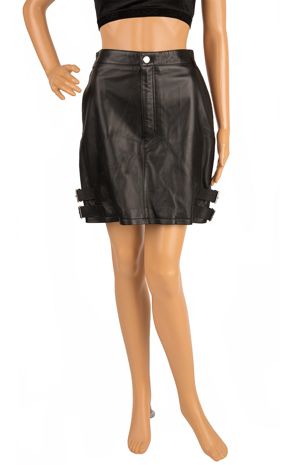 Front view of ALTUZARRA with tags Leather skirt Size: 8