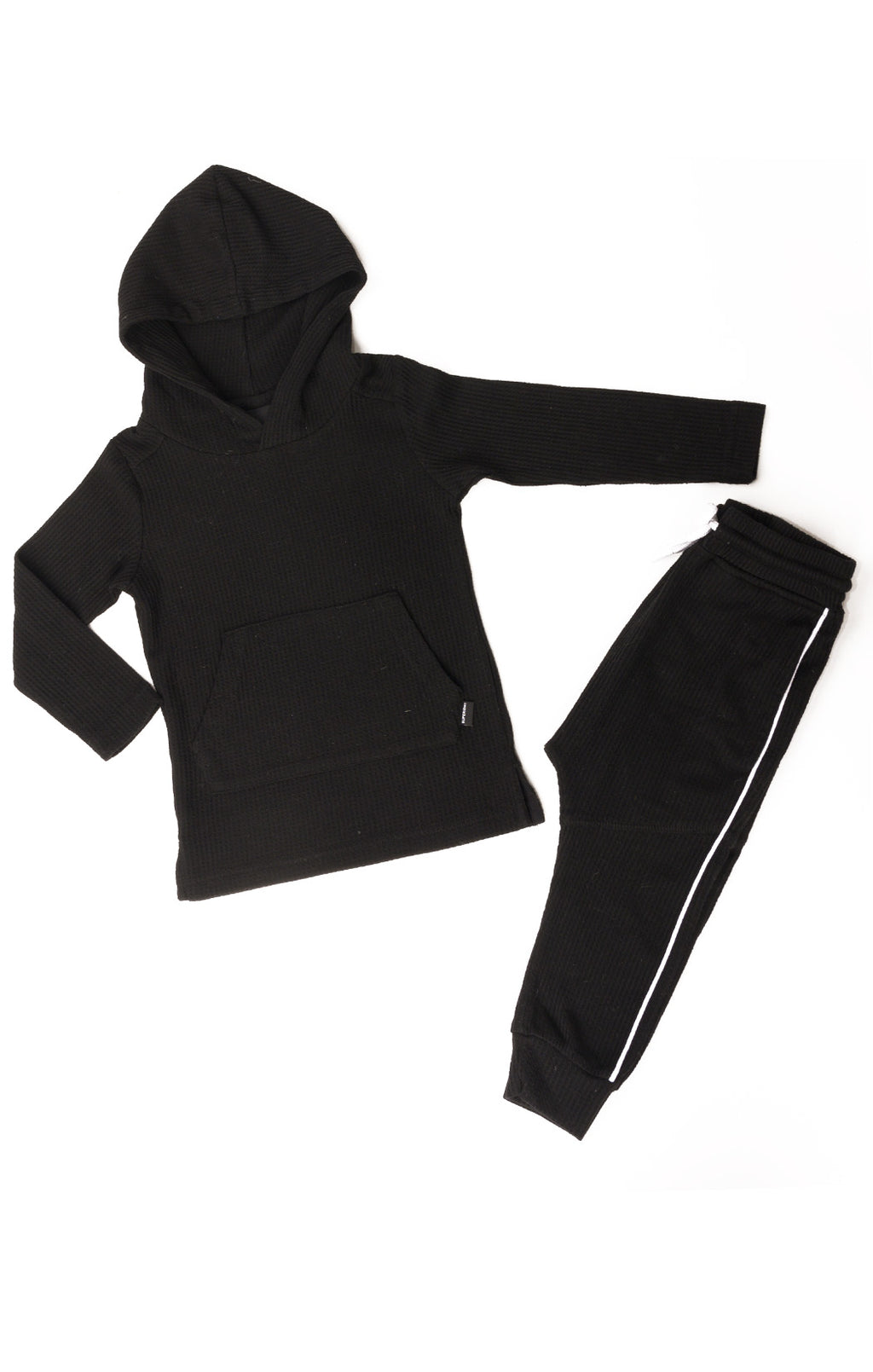 Front view of SUPERISM Hoody and pant Size: Hoody is size 2, pant is size 4