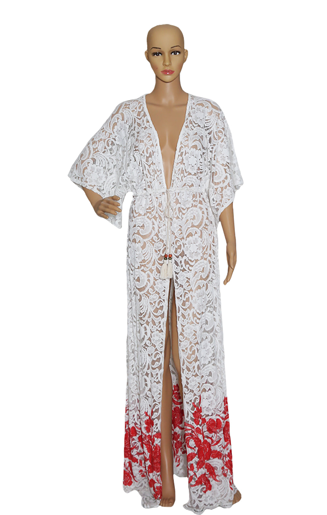 Front view of LE VERTIGE Long Caftan Coverup Size: Medium