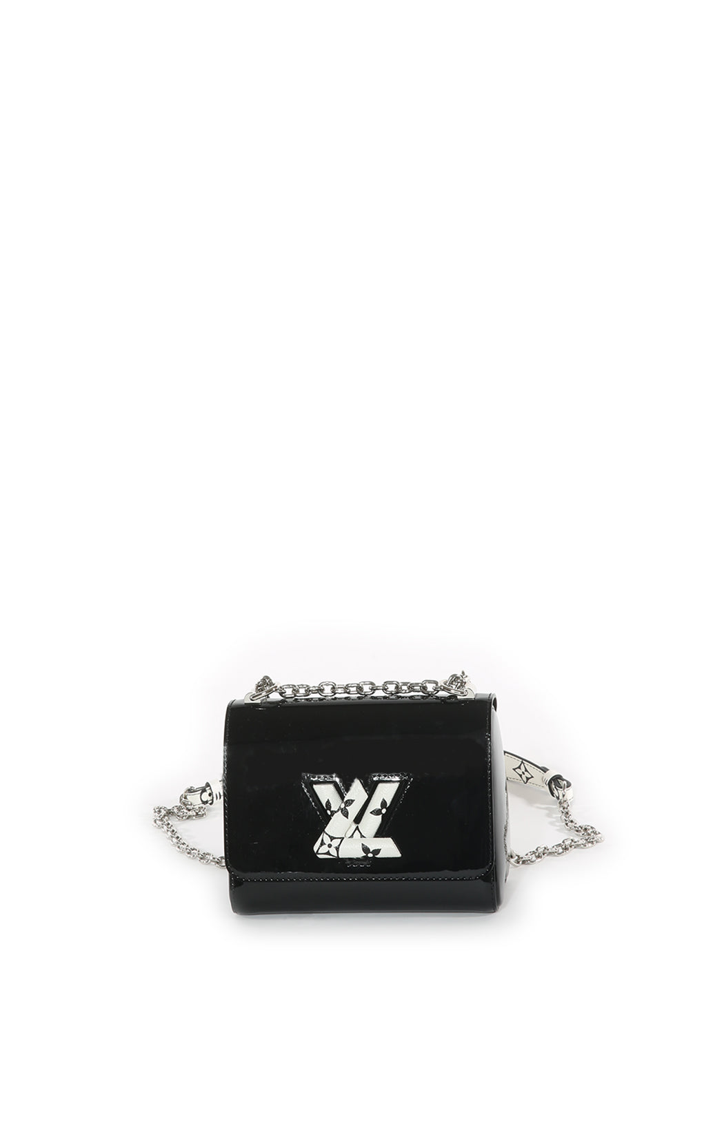 Front view of LOUIS VUITTON Handbag Size: 7.5 in x 6 in x 3.5 in