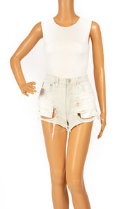 Front view of A GOLD E Jean shorts Size: no size tags fits XXS