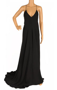 Front view of CALVIN KLEIN with tags Long dress Size: IT 40 (comparable to US 4-6)