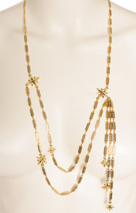"View of LUV AJ Necklace Size: 40"" length (adjustable) with 6"" hanging chains"