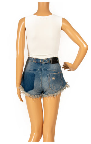 Back view of ONE TEASPOON Jean shorts