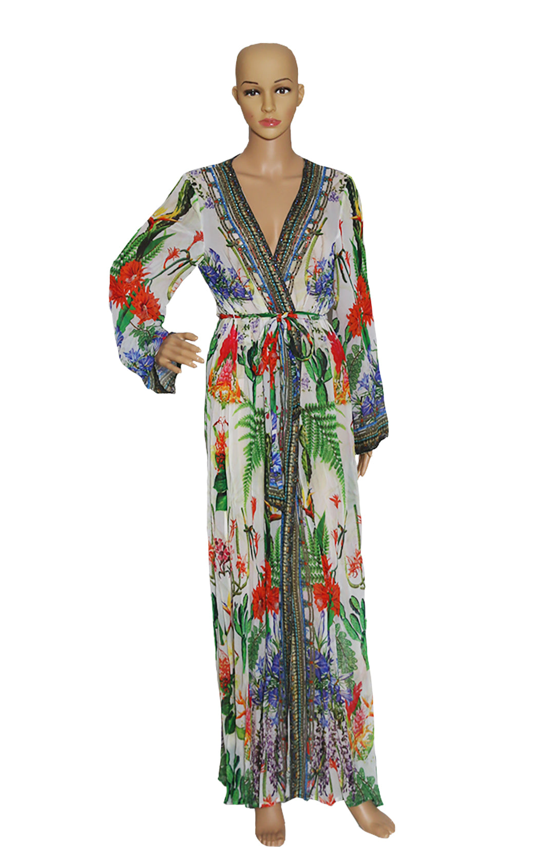Front view of SHAHIDA Wrap Robe Size: Medium