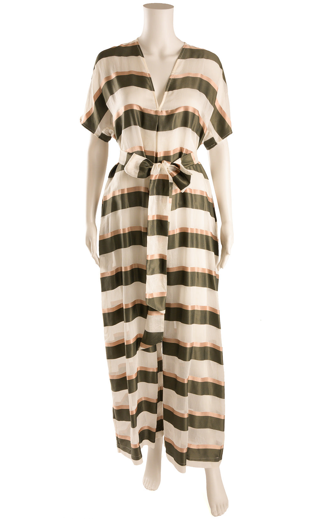 Front view of LISA MARIE FERNANDEZ with tags Jumpsuit shown with belt Size: Medium