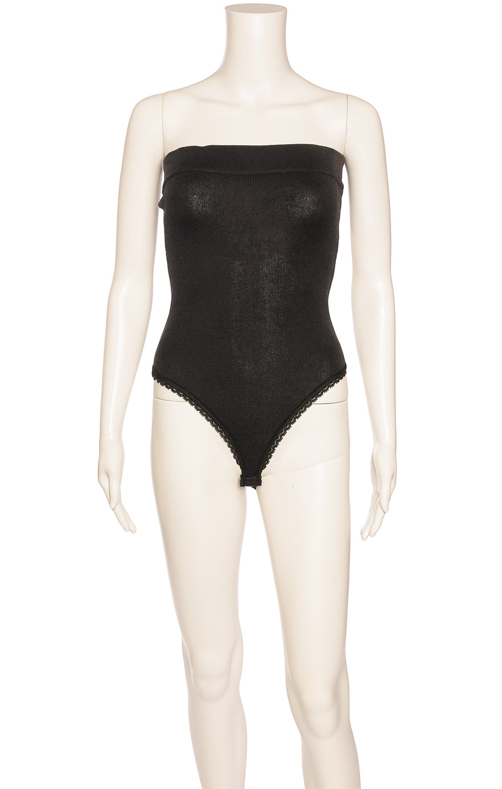 Front view of DONNA KARAN Bodysuit Size: Small