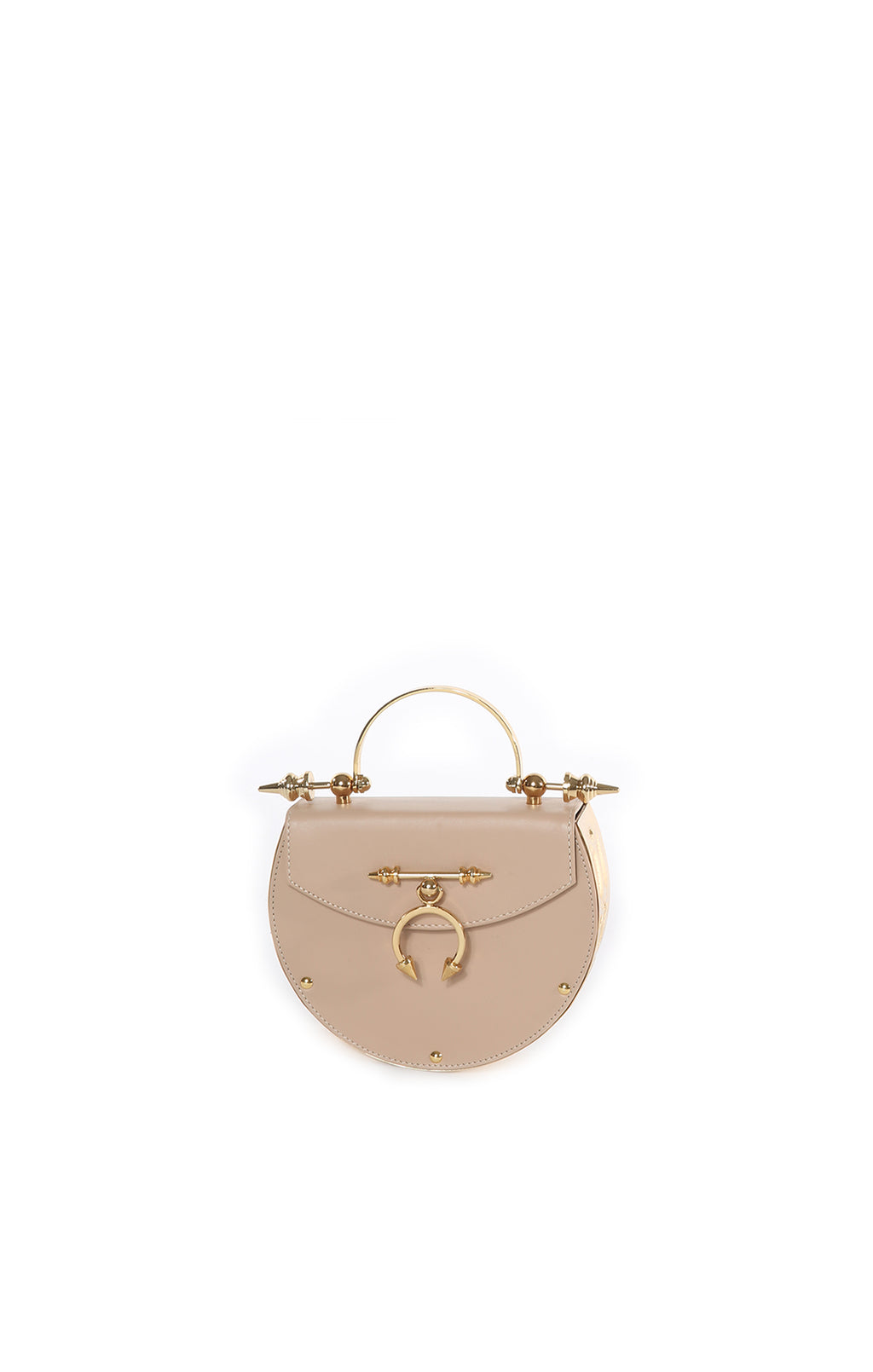 Front view of OKHTEIN Handbag Size: 7 in x 6 in x 2 in