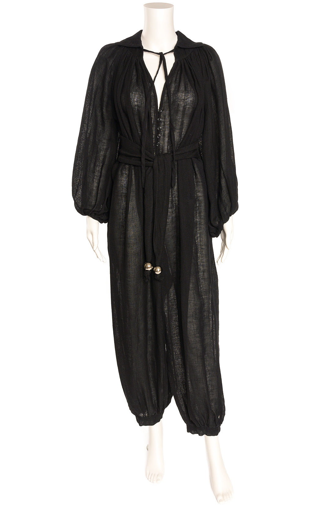 Front view of LISA MARIE FERNANDEZ  Jumpsuit  Size: no size tags fits like Medium to Large
