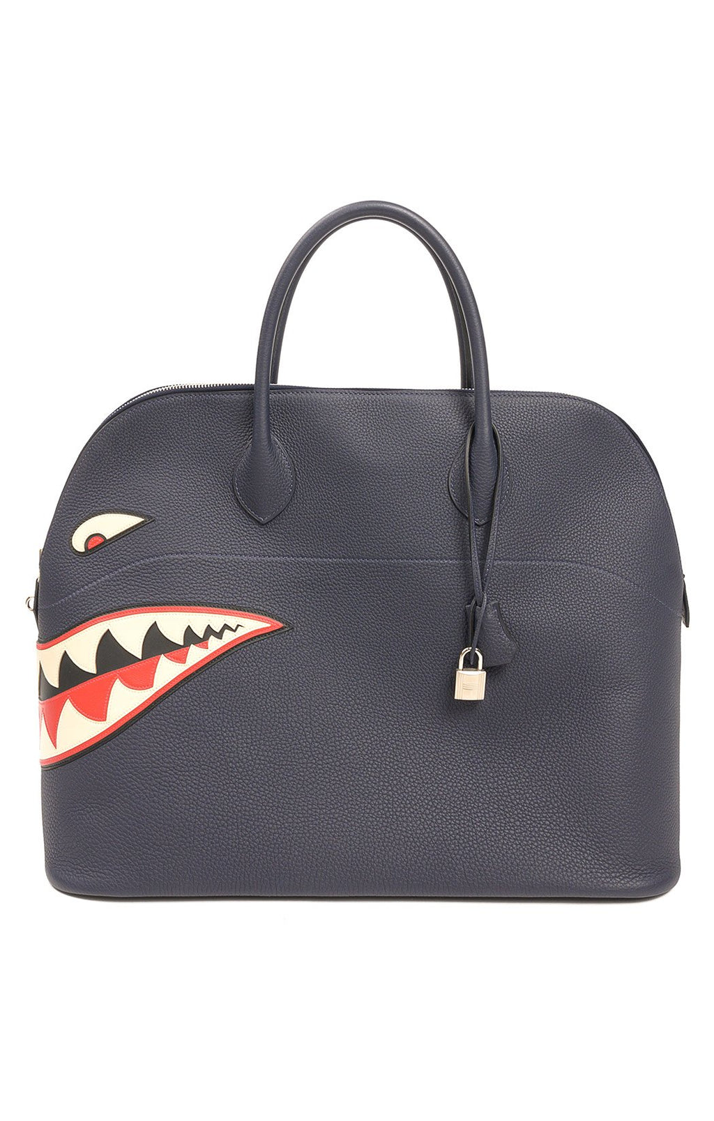 "Front view of HERMES (SHARK BOLIDE) Handbag  Size: 18""x 14.5"" x 10"""
