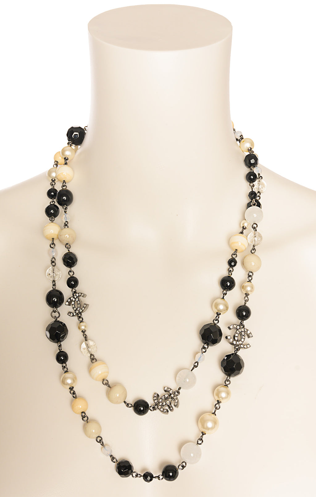 "View of CHANEL Necklace Size: 48"" length"