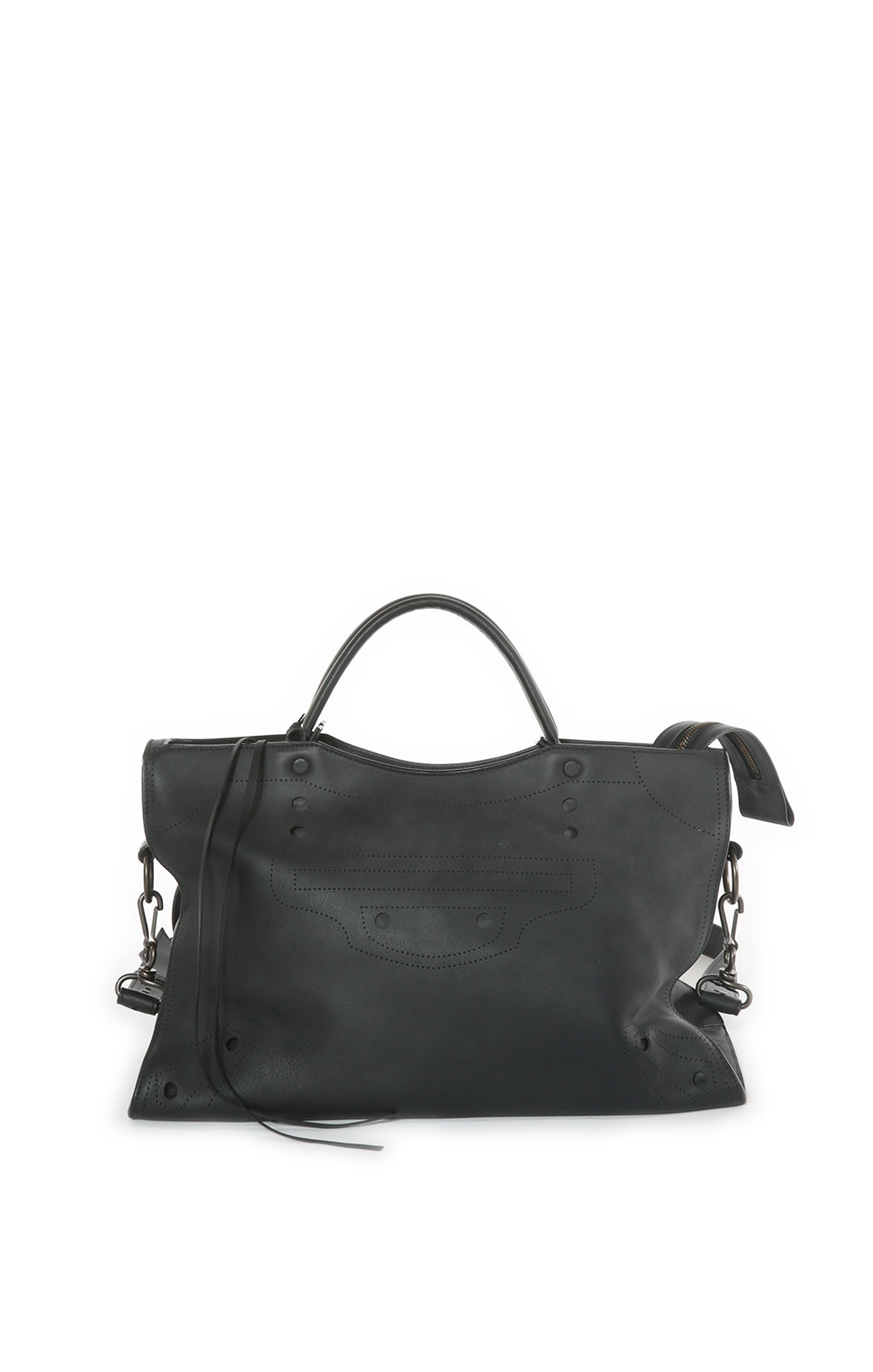 Front view of BALENCIAGA Handbag Size: 15 in x 9.5 in x 5.5 in