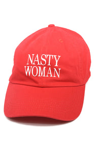 Front view of NASTY WOMAN Baseball hat Size: O/S