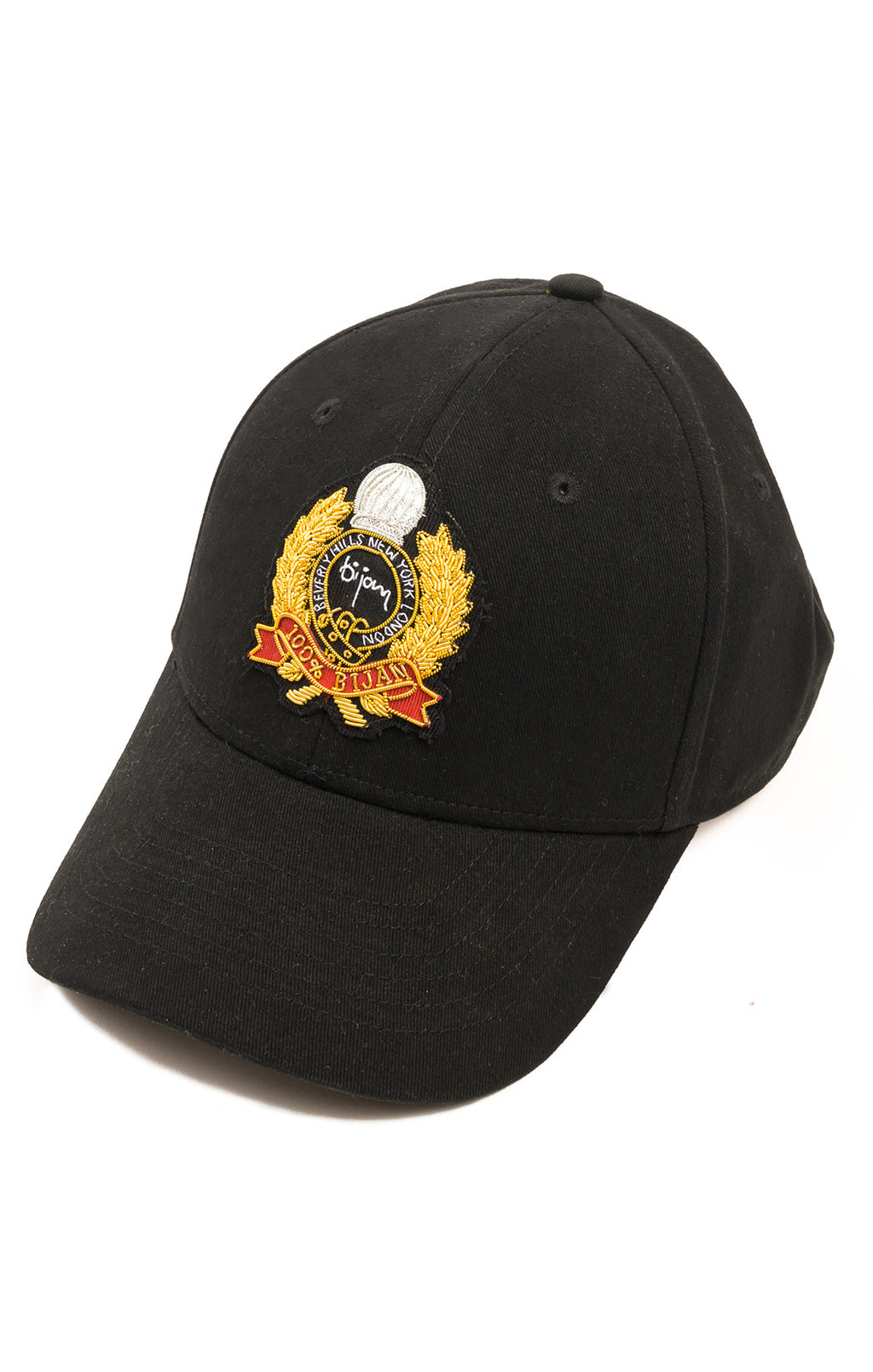 Front view of BIJAN Baseball hat  Size: O/S