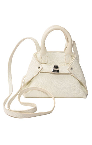 Front view of AKRIS Mini purse with shoulder strap