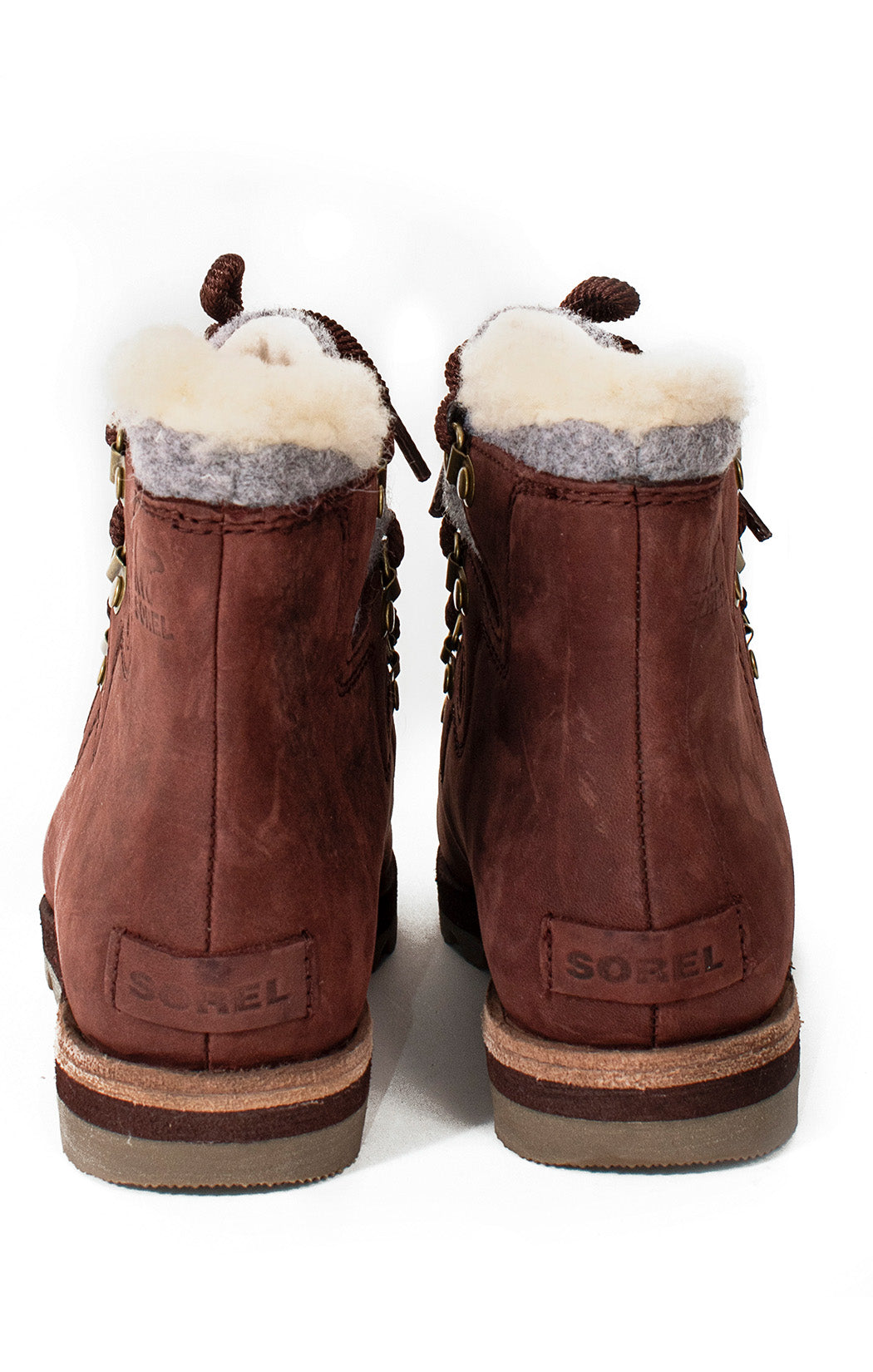 Back view of SOREL with tags Boots