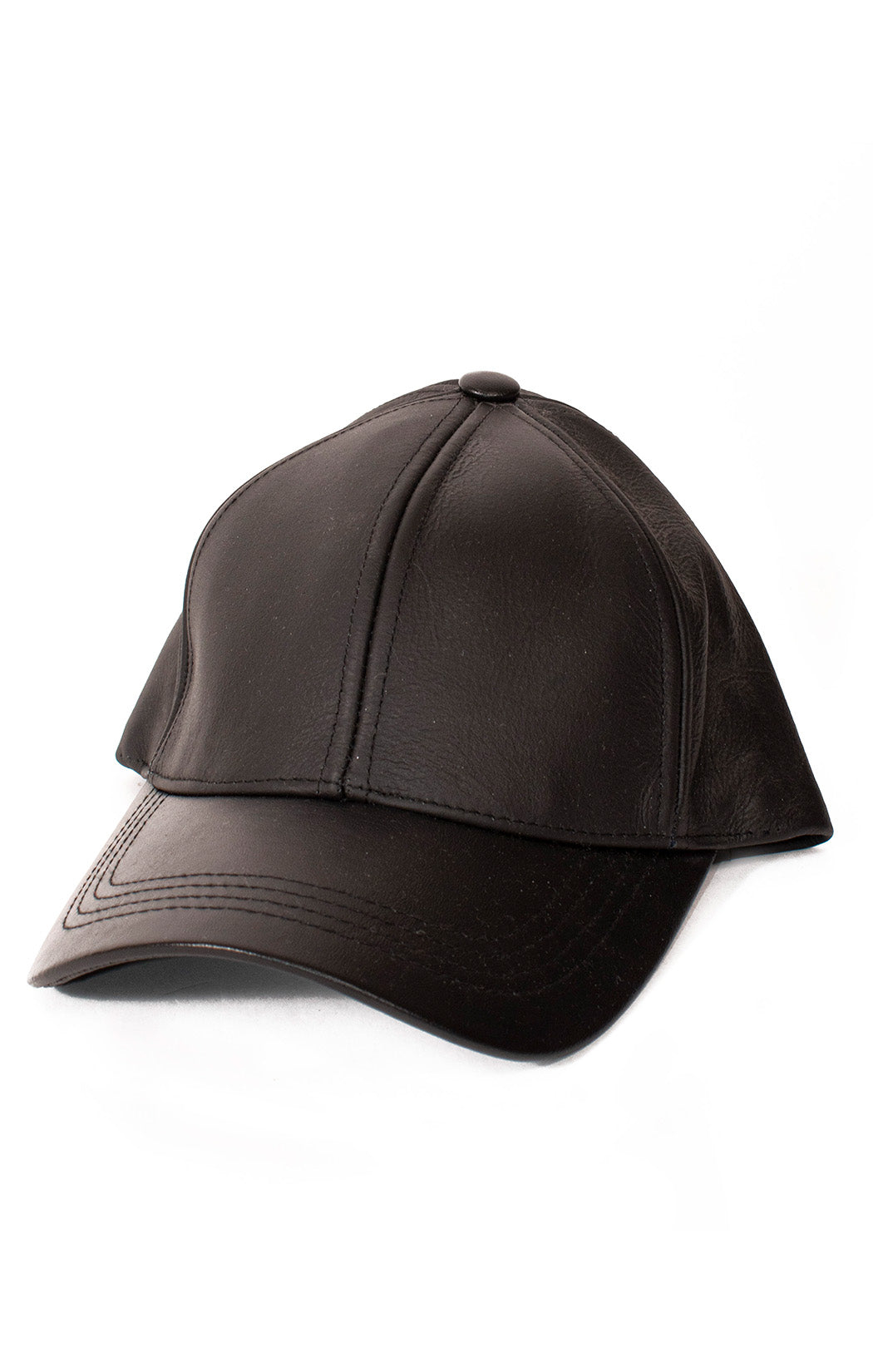 Front view of ELLIOTT Leather baseball hat Size: 7 3/8""