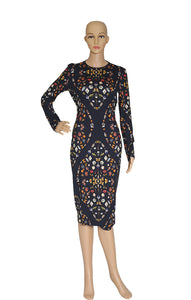 Front view of ALEXANDER McQUEEN  Print Dress Size: FR 40 (US 8)