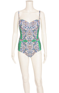 Front view of TORY BURCH with tags Bathing suit Size: Medium