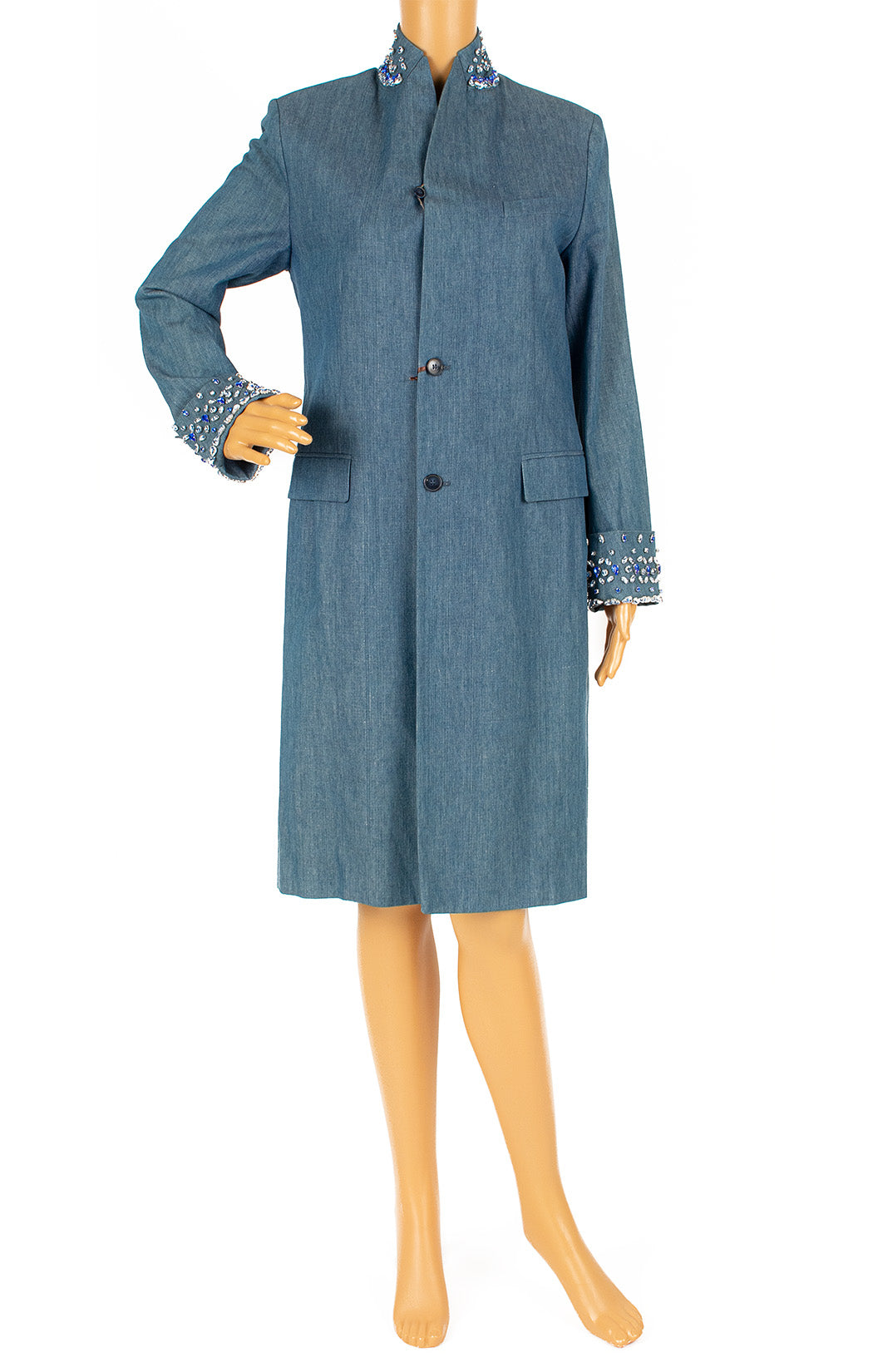 Front view of ERMANNO SCERVINO with tags Coat Size: IT 40 (comparable to US 4)
