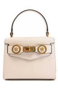 "Front view of VERSACE with tags Purse Size: 7"" W x 5.5"" H x 3"" D"
