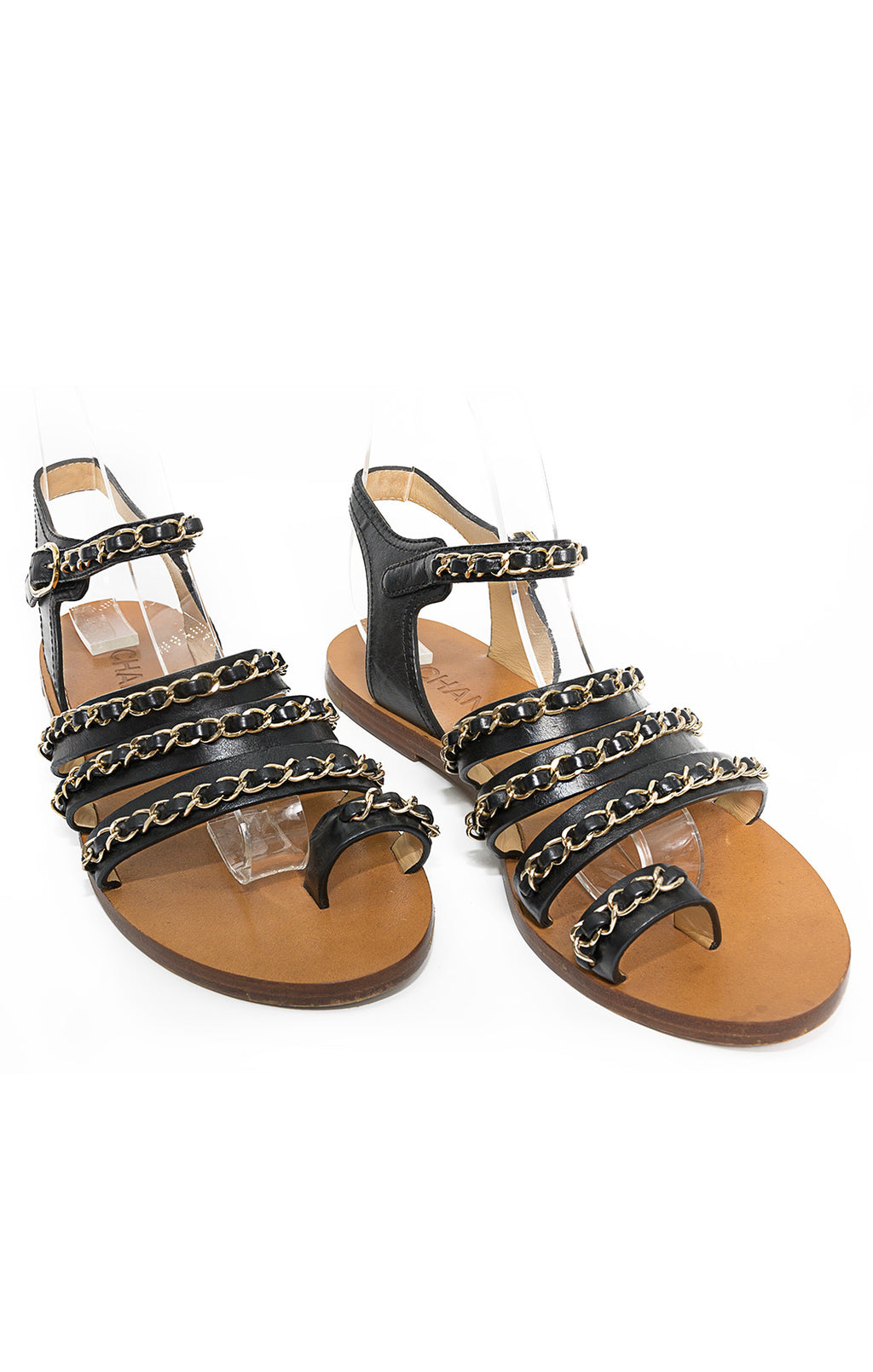 Front view of CHANEL  Sandals Size: 39/9