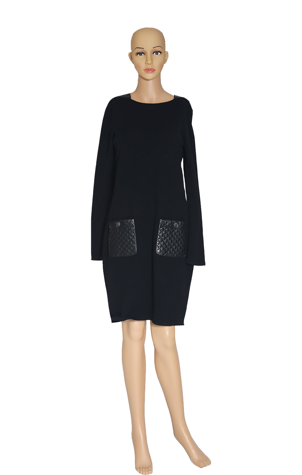 Front view of CHANEL Patch Pocket Dress Size: FR 40 (US 8)