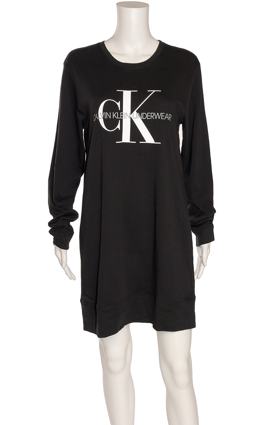 Front view of CALVIN KLEIN with tags Nightshirt Size: Medium